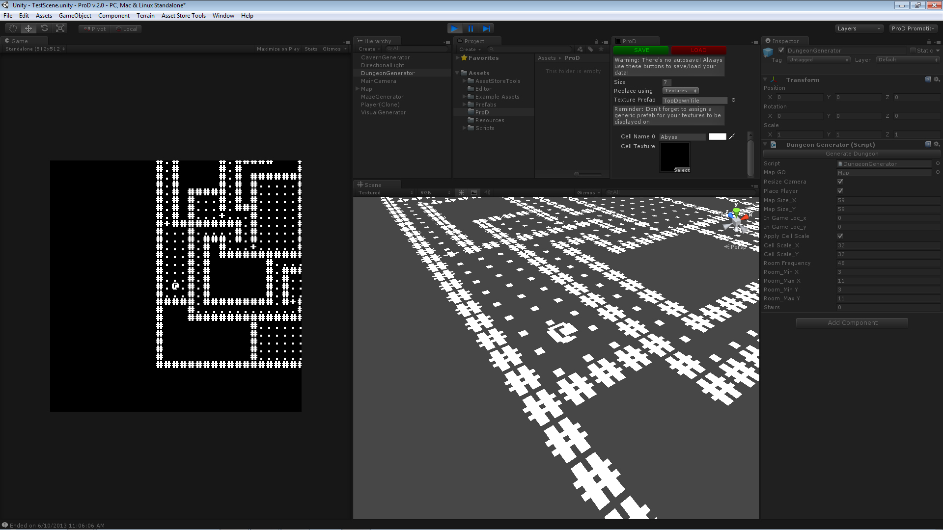 ProD: Procedural Dungeon Generator for Roguelikes | Gray Lake Studios